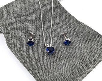 Jewellery Set Mother/'s Day gift  Sandycraft Blue Tatting Earrings Svarowski Necklace Blue Tatting Jewellery Set: Blue Tatting Necklace