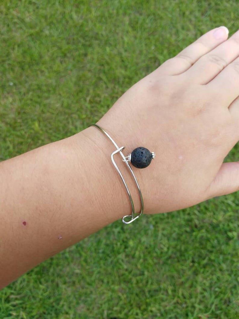 Essential Oil Diffuser Bracelet oil diffuser jewelry Bangle  bracelet gift for her Lava Bead bangle bangle Aromatherapy Bracelet