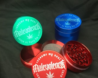 50mm laser engraved custom/personal herb grinder with your logo/design or message personalised