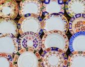 10 (10pcs) Vintage Mismatched China Small Bread Tea Side Plates Peaky Blinders Antique Imari Afternoon Party Wedding Crockery Bulk Job Lot