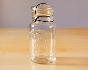 1933 Glass Perfect Seal canning jar Wide mouth 1 quart