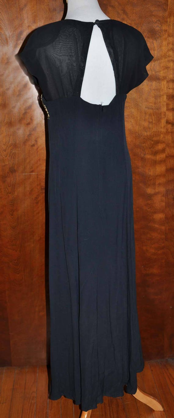 Black Vintage Formal Gown, Carole Little Full Len… - image 6