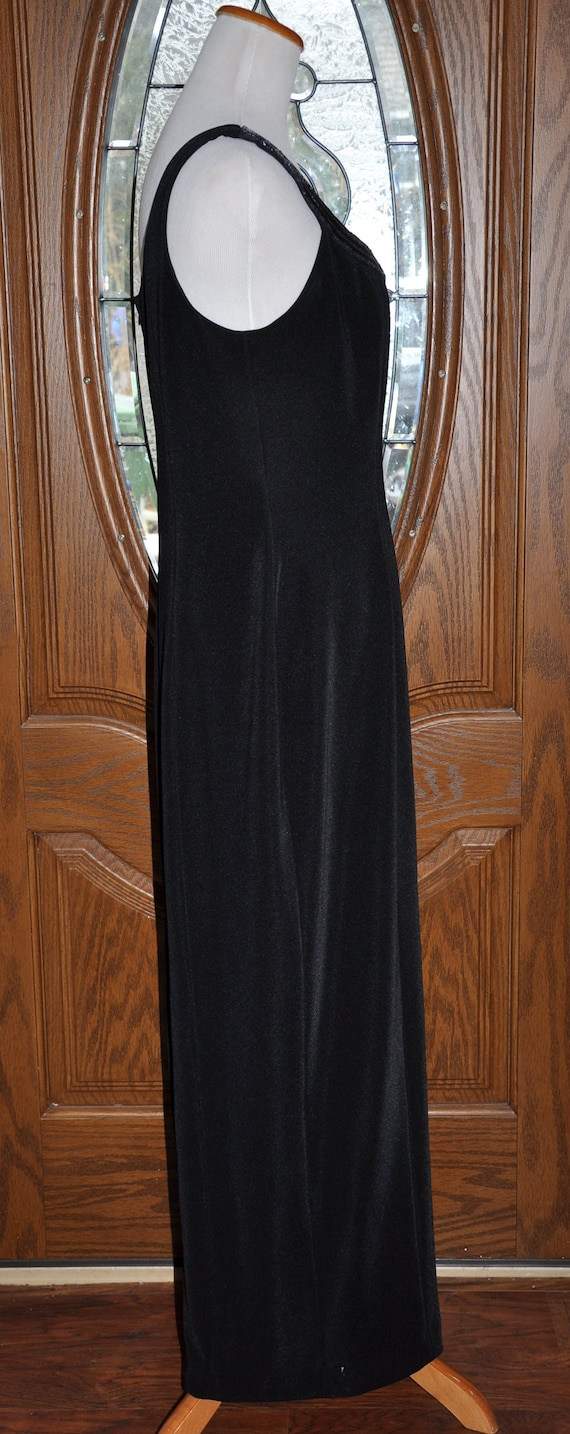 Alex Evenings Black Beaded Evening Gown, Black Be… - image 6