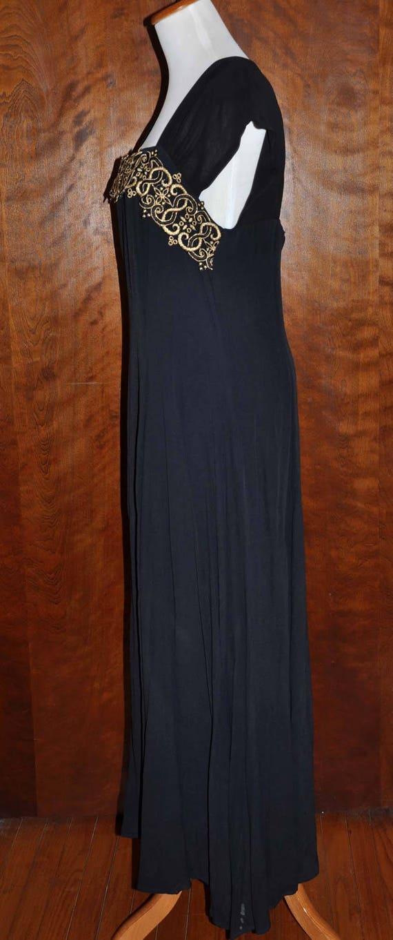 Black Vintage Formal Gown, Carole Little Full Len… - image 8