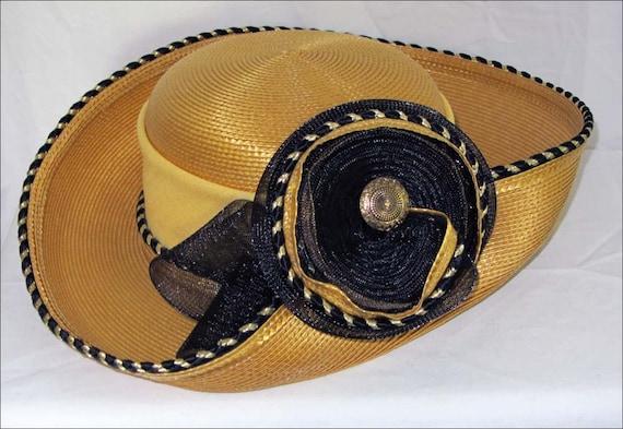 Cello Straw Hat, Natural Straw Hat, Wide Brim Stra
