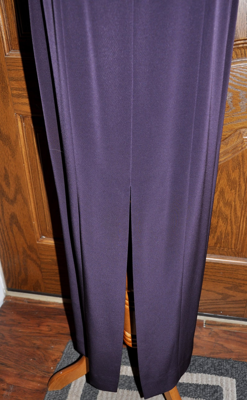 Jones of NY Gown and Jacket Ensemble Eggplant Mother of the Bride Gown Jones of New York Eggplant Mother of the Bride Gown and Jacket