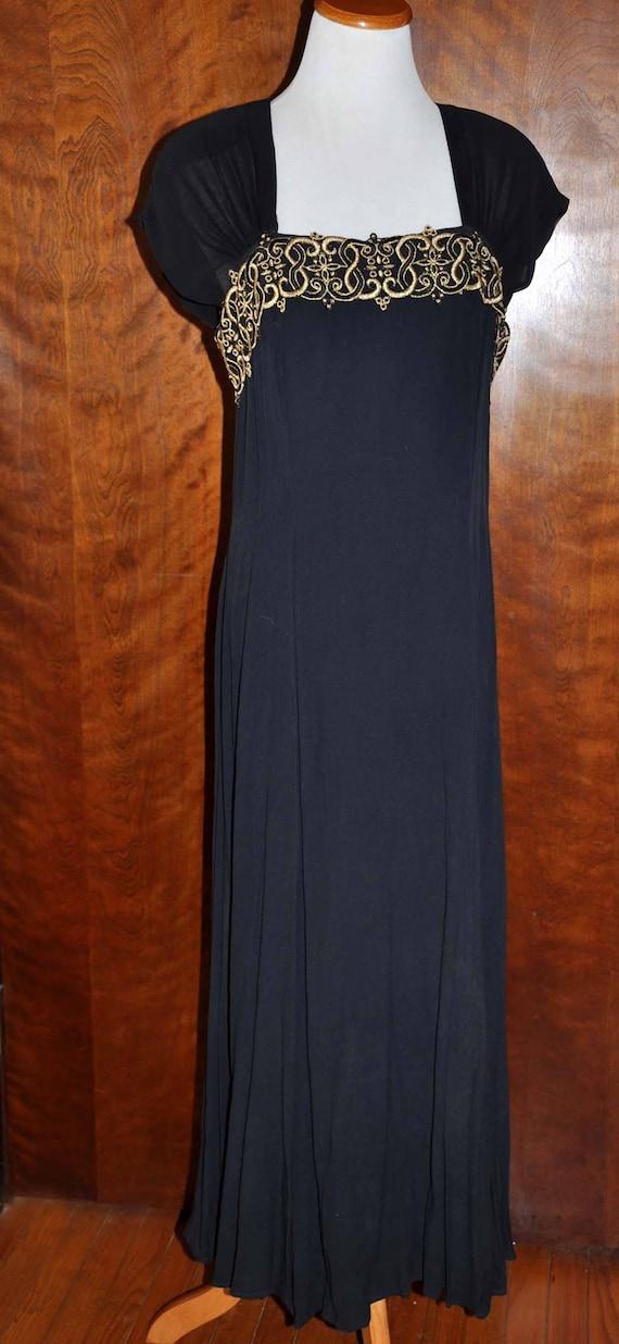 Black Vintage Formal Gown, Carole Little Full Len… - image 2