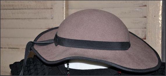 Fawn Wool Hat, Wide Brimmed Hat, Tan Wide Brim Ha… - image 3