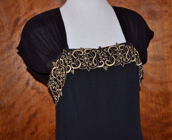 Black Vintage Formal Gown, Carole Little Full Leng