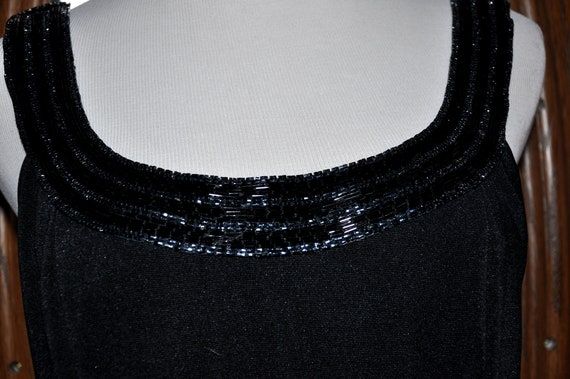 Alex Evenings Black Beaded Evening Gown, Black Be… - image 3