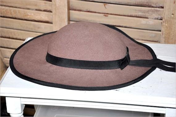 Fawn Wool Hat, Wide Brimmed Hat, Tan Wide Brim Ha… - image 4