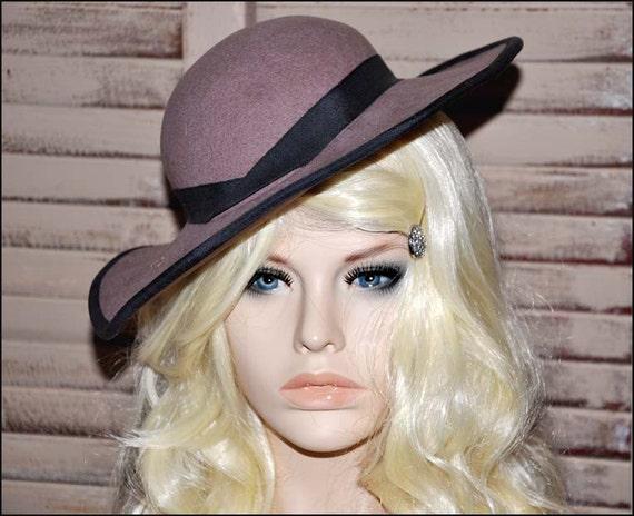 Fawn Wool Hat, Wide Brimmed Hat, Tan Wide Brim Ha… - image 5