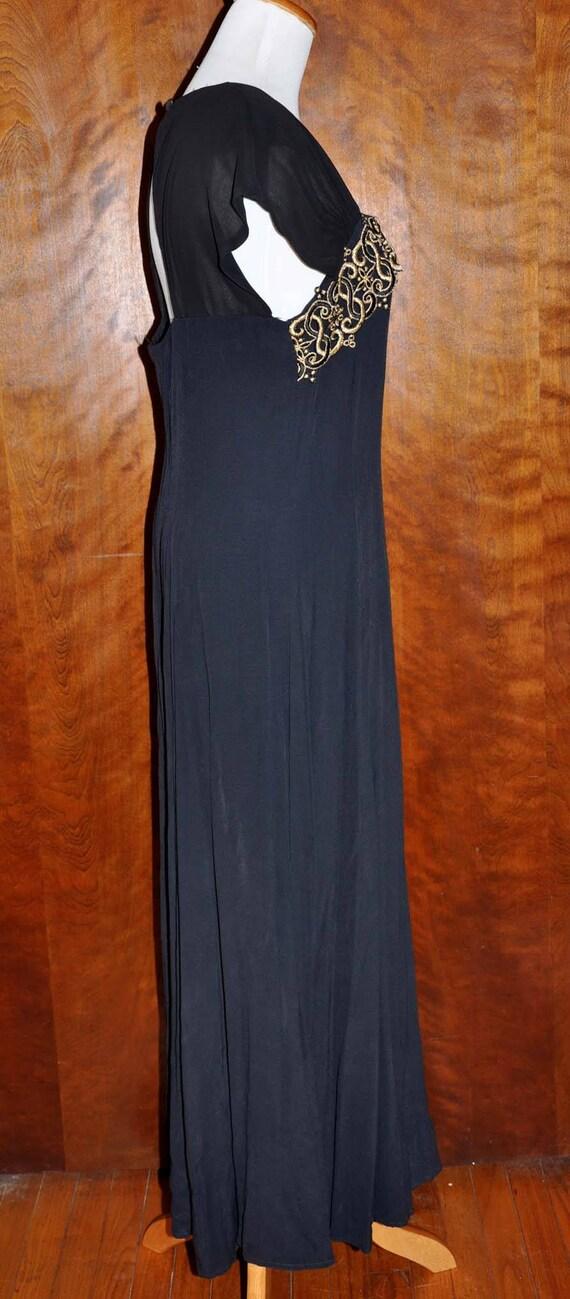 Black Vintage Formal Gown, Carole Little Full Len… - image 4