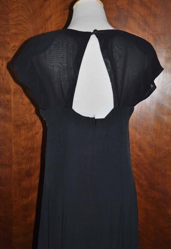 Black Vintage Formal Gown, Carole Little Full Len… - image 3
