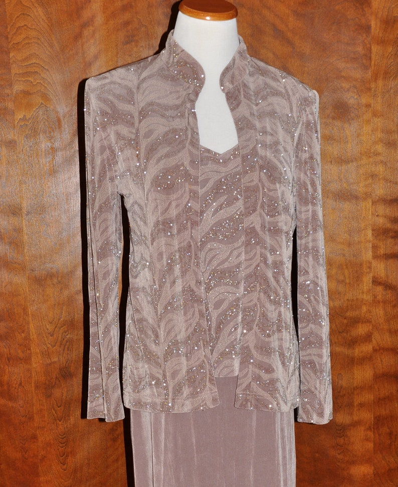 c80e2acacf3 Vintage Jessica Howard Fawn Mother of the Bride Gown   Jacket