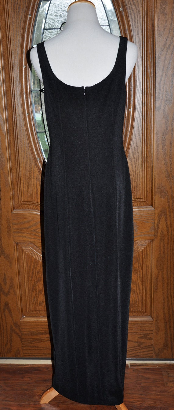Alex Evenings Black Beaded Evening Gown, Black Be… - image 7