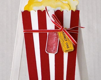 Popcorn Bucket Gift Card Holder