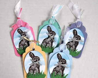 Bunny gift tags etsy negle Images