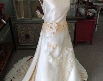 Elegant Bridal Gown Handmade; Featured in Metropolitan Bride Magazine