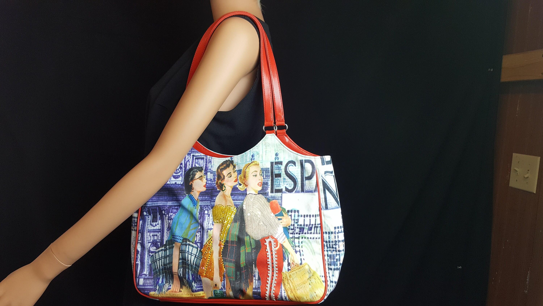 c857cddda9 Isabella Fiore Purse Handbag w  straps Vintage Retro Women