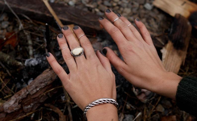Midi Rings Set of Three Mid-Finger Rings Sterling Silver Handmade Jewelry