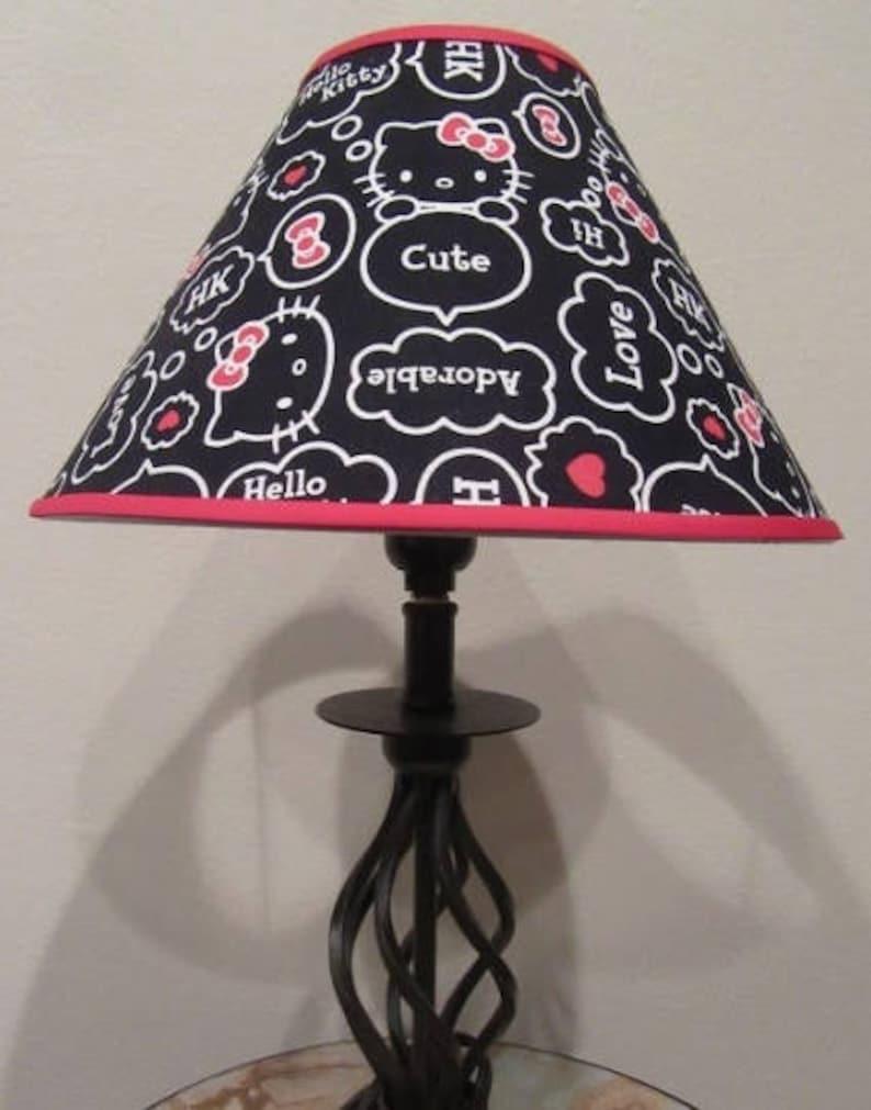 900847e48 Hello Kitty Fabric Lamp Shade | Etsy