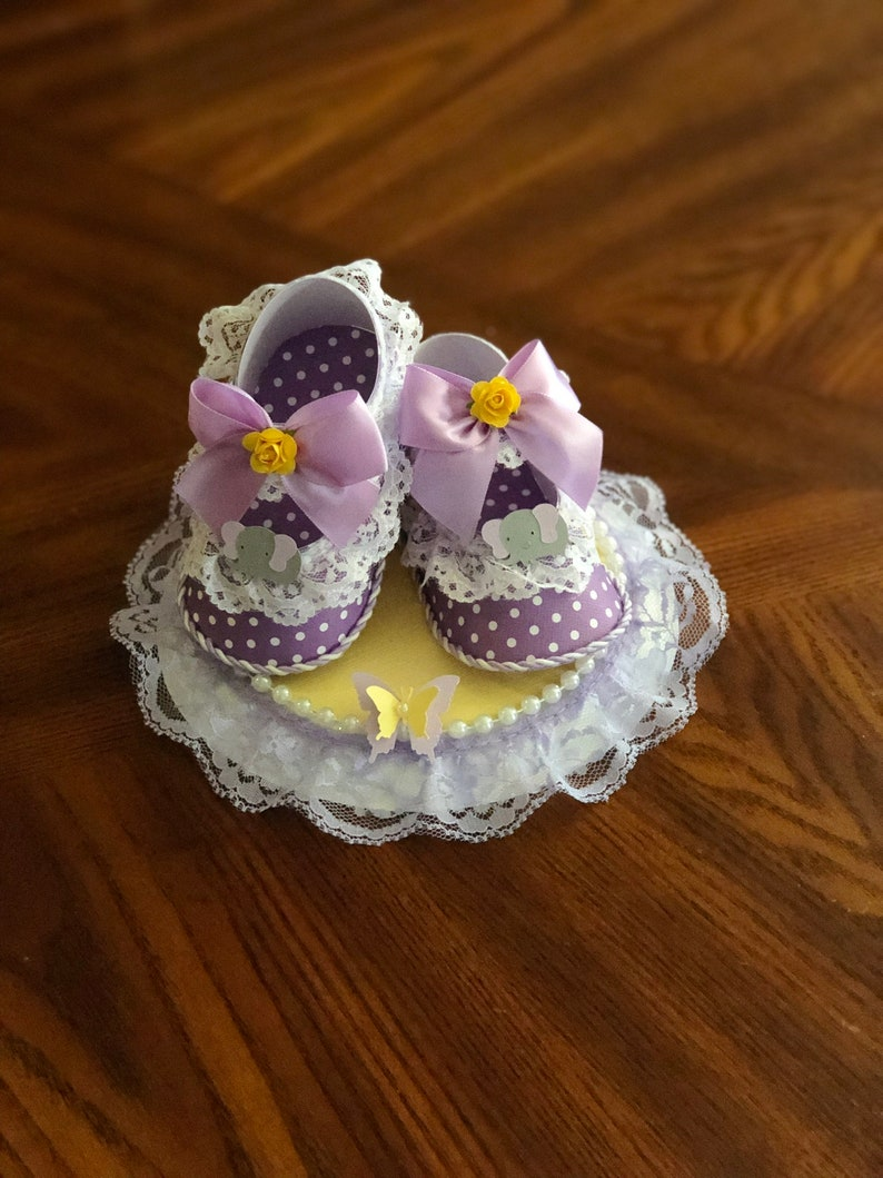 Cake Topper Purple And Yellow Cake Topper Elephant Cake Etsy