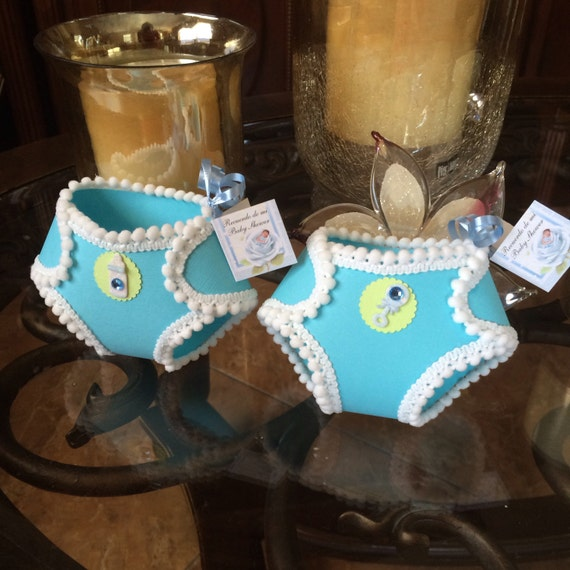 Set Of 10 Diaper Favors Boy Baby Shower Elegant Diapers Favors Box For Candy
