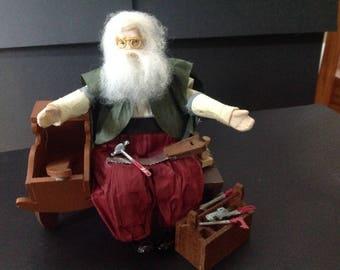 Vintage Kurt Adler Jocelyn Mostrom Limited Edition Santa's Workshop Paper Mache Figurine