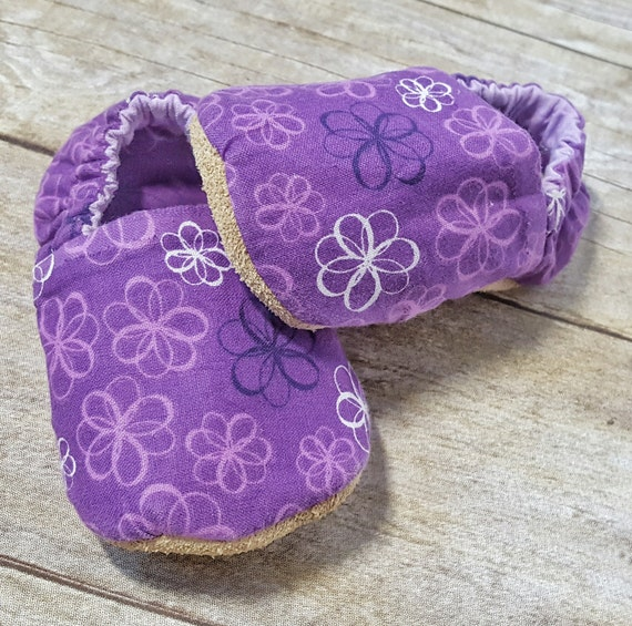 Purple Baby Shoes Crib Shoes Soft Sole