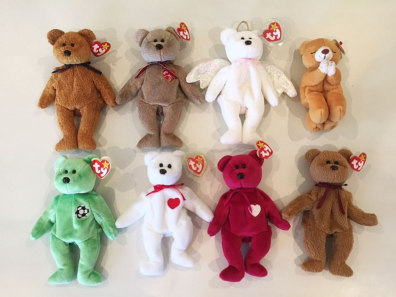 7105756e585 Varied Bear Selection Retired Ty Beanie Babies You pick