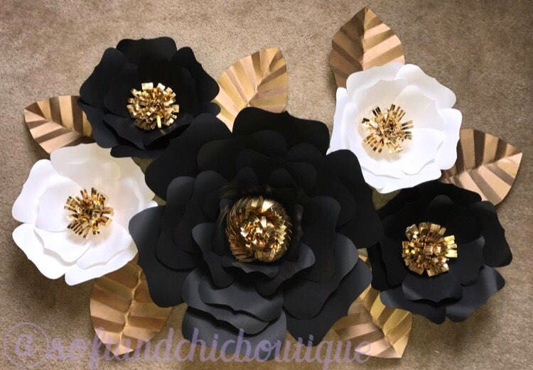 Large paper flower backdrop wedding backdrop wall decor etsy zoom mightylinksfo