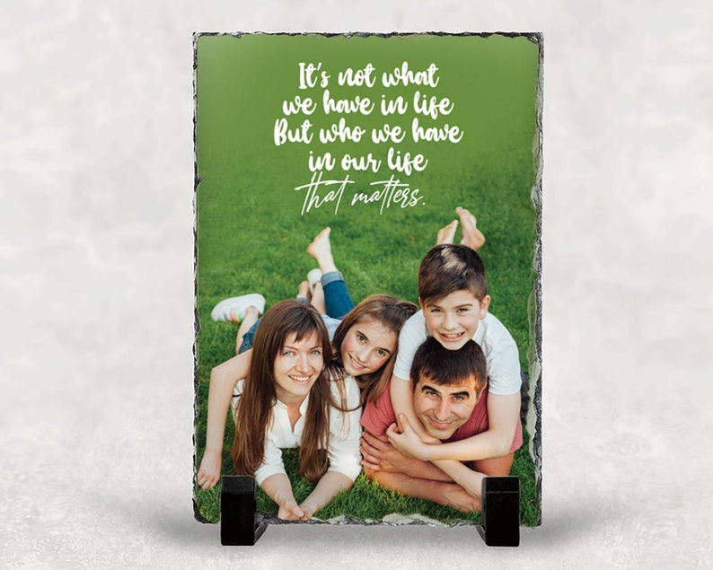 Slate Family Picture Family Gift Custom Print Family Quote Decal Family Frame Custom Gift Family Photo Gift Family Reunion Gifts