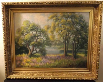 Sale Reduced Free Ship Goffstown NH landscape F P Wakefield 1930 - 1940 original signed oil