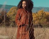 Women Rust Coat, Boho Coat, Plus Size Clothing, Boho Cardigan, Transitional Style, Extravagant Coat, Warm Coat, Oversized Coat, Hipster Coat