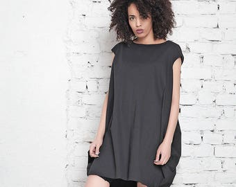 Short Black Dress, Summer Dress, Oversized Dress, Women Dress, Tunic Dress, Black Tunic, Plus Size Dress, Summer Tunic Dress, Tank Dress
