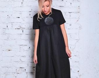 fe867a9100 Lniana sukienka maxi