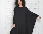 Maxi Dress, Plus Size Caftan, Kimono Dress, Japanese Kimono Robe, Robe Dress, Gothic Dress, Maxi Loose Dress, Party Maxi Dress, Cape Dress
