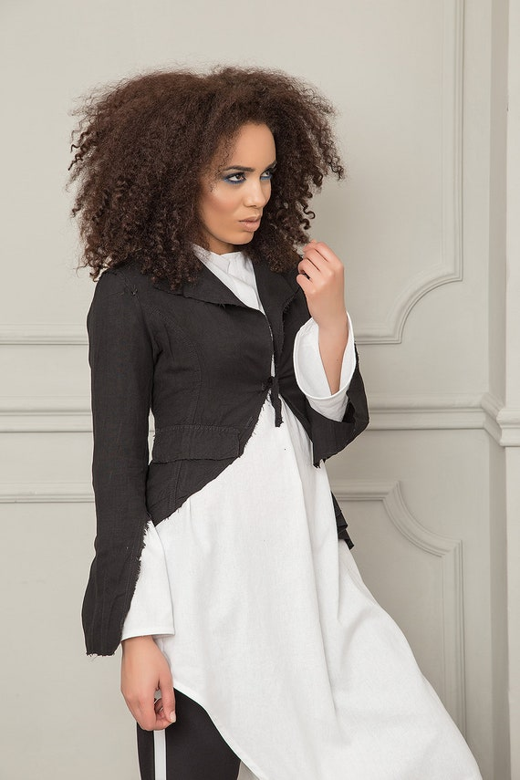 Asymmetrical Women Jacket Blazer Clothing Women Blazer Summer Plus Black Blazer Jacket Jacket Blazer Jacket Cotton Jacket Casual Size rqvpr