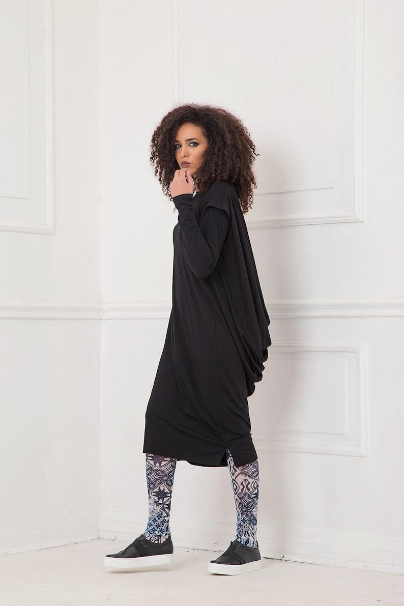147de204ab2 Dress For Women Black Dress Draped Dress Black Midi Dress