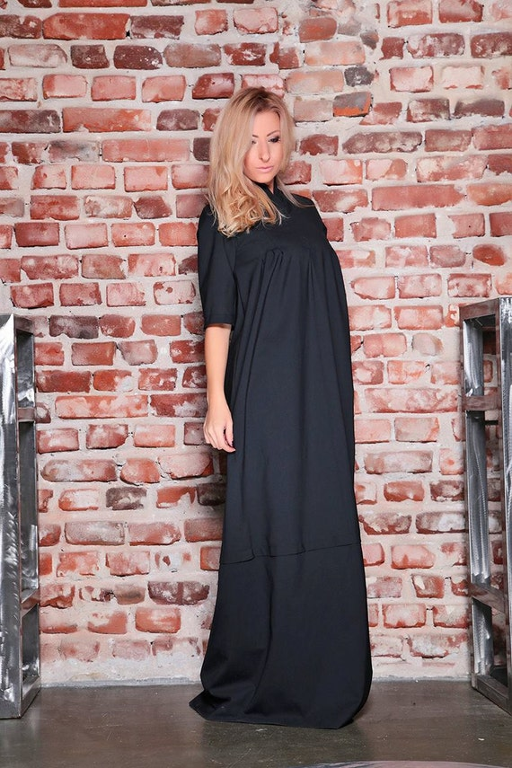 Sweater Gothic Cocktail Evening Gown Dress Black Wool Black Wool Black BDSM Maxi Winter Dress Dress Dress Dress Dress Dress Maxi 7qxExT6
