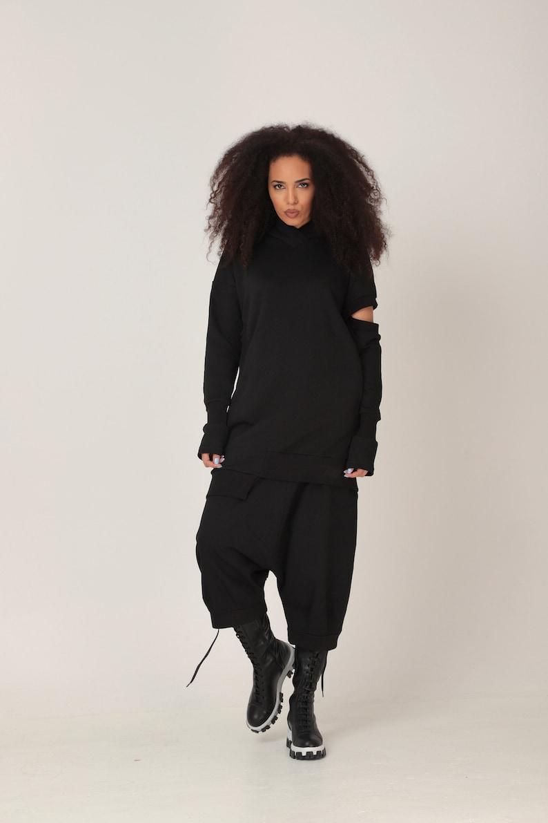 Drop Crotch Pants Adeptt Plus Size Pants Oversize Pants Black Pants Wide Leg Pants Plus Size Clothing Women Harem Pants Baggy Pants