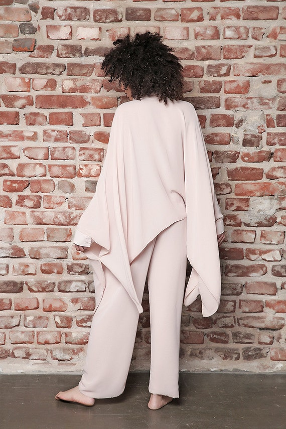 Tunic Elegant Maxi Oversize Plus Women Pants Pants Long Pants Overall Wide Size Plus Maxi Top Size Shirt Tunic Tunic Poncho Pants THqpnPw
