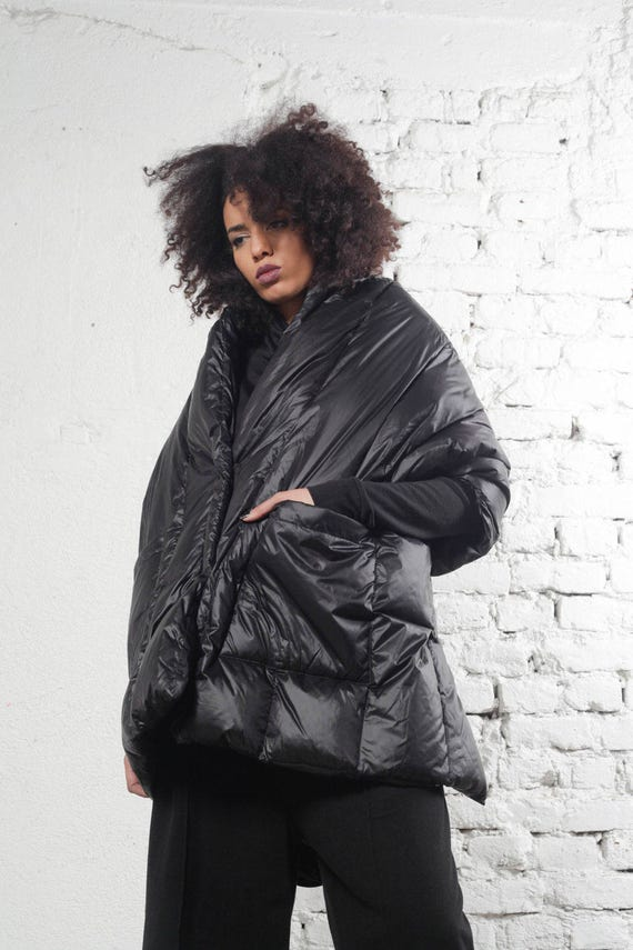 Coat Black Coat Coat Cape Jacket Steampunk Jacket Avant Cape Garde Minimalist Clothing Coat Maxi Winter Womens Coat Black TUWWvnqO