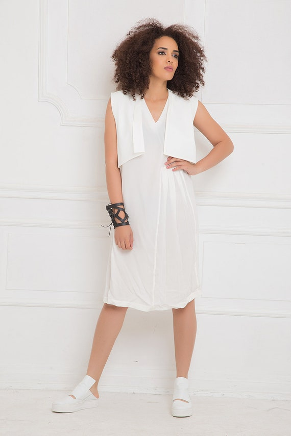 White Dress White Summer Dress Chiffon Dress Plus Size Etsy