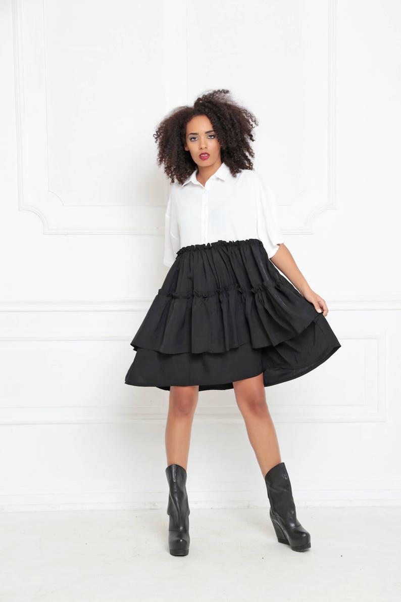 Plus Size Dress Black And White Dress Short Sleeve Dress | Etsy