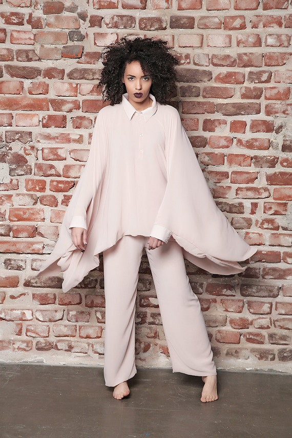 Size Plus Pants Top Poncho Asymmetric Clothing Top Size Maxi Pants Set Top Plus Pants Maxi XXXL Oversize Top Extravagant Set XXL 1BZdBq