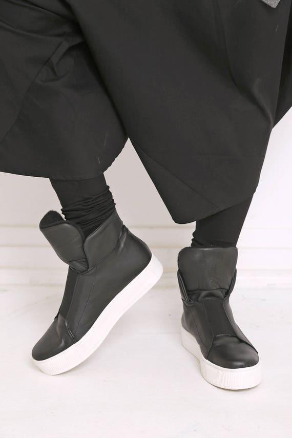Fashion Women Shoes Sneakers Black Leather Shoes Sneakers Sneakers Black Flats Shoes Shoes Women Black Minimalist Flats Leather 5rq5wZH