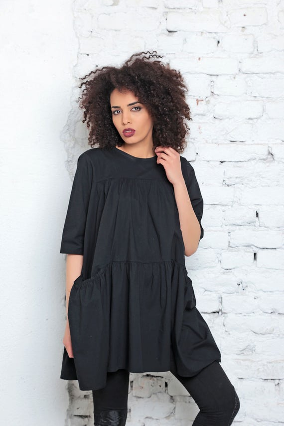 Black Dress Plus Size Clothing Sexy Black Dress Gothic Etsy