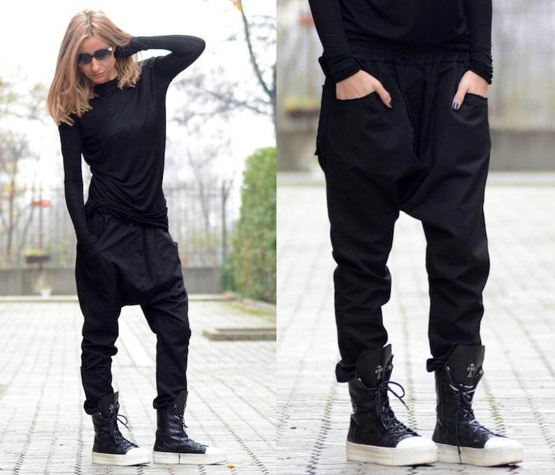 103df39077a Harem Pants Drop Crotch Pants Plus Size Clothing Women